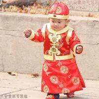 华樽堂 儿童唐装套装中式男童礼服新年男童秋冬百岁周岁抓周衣服
