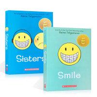 英文原版童书 Smile and Sisters 爱笑的姐妹2册 Raina Telgemeier 绘本漫画儿童文学纽
