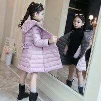 2019 女童棉衣新款冬装儿童韩版双色收腰洋气加厚外套加长棉袄