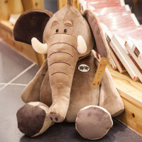 仿真大象抱枕3D毛绒趴睡枕办公室午休棉靠背腰靠垫儿童