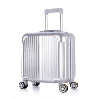 行礼拉箱手拉箱可爱子母箱迷你小行李箱16小型登机箱万向轮拉杆箱学生旅行箱亚玫瑰金磨砂款(子母箱)18 银白 拉丝款(单