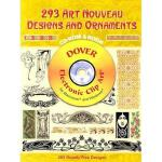 【预订】293 Art Nouveau Designs and Ornaments [With CDROM]