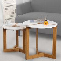 门扉 茶几 实木茶几客厅创意小圆桌边几后现代小茶几 客厅简约套几