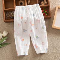 夏天男女灯笼裤子儿童婴儿睡裤夏季薄款纱布长裤宝宝