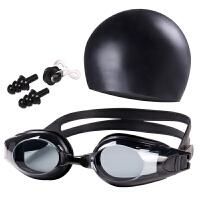 泳镜高清防雾近视泳镜男女平光带度数防水游泳眼镜泳帽套装备