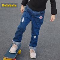 巴拉巴拉童装女童长裤宝宝裤子秋冬2017新款小童儿童休闲牛仔裤女