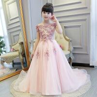 儿童婚纱蓬蓬裙女童公主裙钢琴演出服小主持人花童生日晚礼服长袖