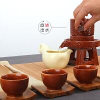 整套家用全自动复古创意石磨陶瓷功夫茶具套装