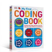英文原版 My First Coding Book 我的编码书 DK儿童编程启蒙书全彩纸板翻翻书 计算机科学启蒙图书