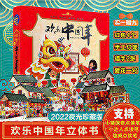 欢乐中国年立体书儿童3d立体书翻翻拉页互动游戏书全新体验阅读动手动脑过年啦绘本儿童3-6周岁春节礼物书新年除夕