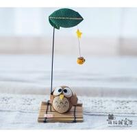 日本京都手工礼品桌面摆件可爱玩偶青蛙猫兔子 结婚*