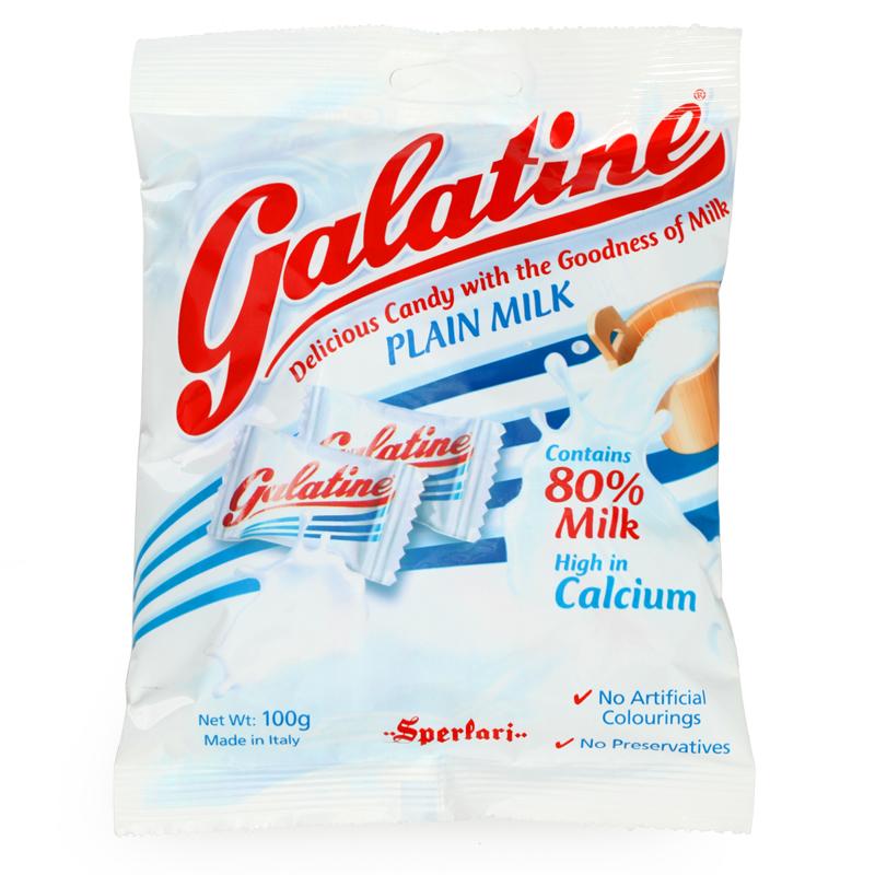 Galatine 意大利原装进口糖果佳乐锭原味高钙牛奶片儿童零食100g