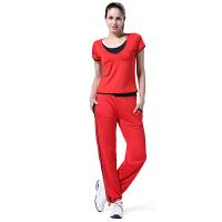 瑜伽服运动套装女 健身服健美操广场舞服装 跑步运动衣裤