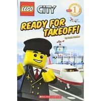 【中商原版】乐高城市系列 准备起飞 英文原版 Ready for Takeoff! 分级阅读1级 故事绘本 3-9岁
