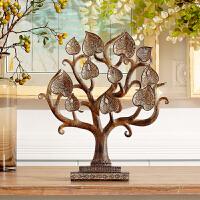 树脂艺术菩提树客厅书房玄关卧室 风水摆件家居装饰品