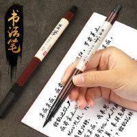 2支宝克软头书法笔可加墨秀丽笔练字软毛墨水笔黑色蘸墨笔硬笔大楷小楷水墨笔蘸水钢笔式毛笔练字专用字帖笔