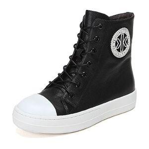 Teenmix/天美意牛皮女休闲靴21-36DD6