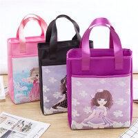 手提包袋子女大容量书包儿童补课装书的补习班小学生补习手拎书袋