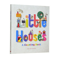 Little Houses A Counting Book 小房子:一本计数书 启蒙绘本图画书 艺术范纸雕风格