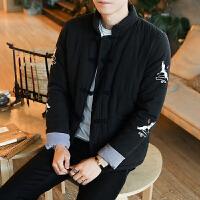 民族风加厚男装外套大码男款中式复古中国风青年棉袄冬装棉衣