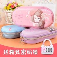 花花姑娘小清新可爱笔袋韩国女孩创意文具盒小学生简约女生铅笔盒