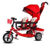 双胞胎三轮车儿童双人车12345岁二胎婴儿手推车宝宝脚踏车