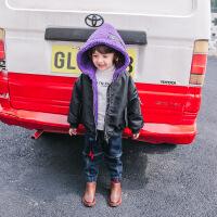 儿童加厚棉衣外套男童棉袄冬装双面穿小童拉链衫宝宝保暖连帽