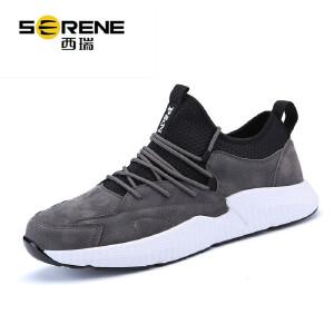 西瑞运动休闲板鞋男低帮轻便跑步鞋时尚透气学生男鞋ZC1897