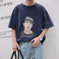 男士短袖2018夏季新款韩版潮流T恤男装宽松港风体恤衫