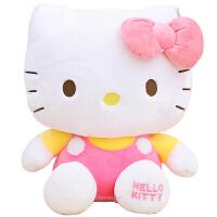 正版hellokitty公仔KT布娃娃毛绒玩具凯蒂猫咪玩偶儿童生日礼物