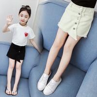 女童短裤裙 女童短裤外穿中大童牛仔裙裤潮2019新款韩版夏季洋气热裤儿童裤子