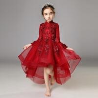 儿童礼服蓬蓬纱女童生日公主裙婚纱花童主持人钢琴演出服晚礼服夏