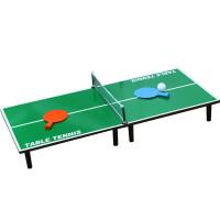 儿童玩具大号木质迷你乒乓球桌折叠乒乓球台亲子桌面游戏娱乐竞技 大号乒乓桌60**30*15
