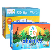 莎林Saalin 220 Sight words(220卡片+5册练习本)+AGO Phonics Box Set 3