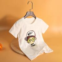 木木屋儿童T恤2021新款男童宽松可爱帅气棉短袖中大童圆领夏季半袖