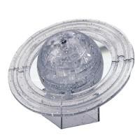 领智3D立体水晶拼图 益智积木 创意礼物 土星立体模型
