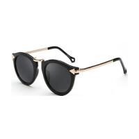 复古太阳眼镜太阳镜女墨镜偏光镜款潮圆脸蛤蟆镜