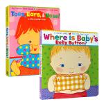 Karen Katz卡伦卡茨身体认知翻翻书2册 英文原版绘本 Where Is Baby's Belly Button