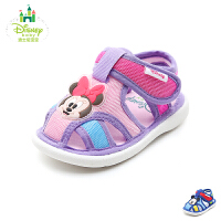 【每满100减50】迪士尼Disney童鞋18新款婴童宝宝鞋哔哔哨幼童学步鞋撞色透气宝宝步前凉鞋(0-4岁可选)HS1