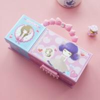 密码文具盒创意女生 多功能可爱公主幼儿园小学生铅笔盒礼品