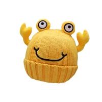 新款秋冬3个月-2岁宝宝儿童毛线帽子1岁男童螃蟹帽子潮款女童帽子