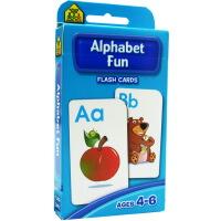 【大小写字母】School Zone Flash Cards Alphabet Fun 英文原版 儿童早教入学准备 字