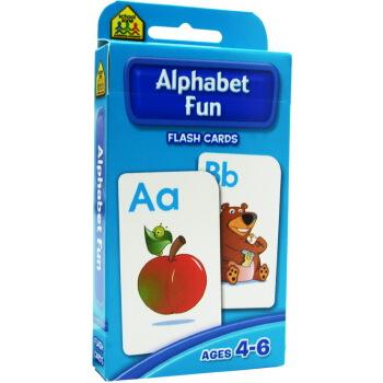 【大小写字母】School Zone Flash Cards Alphabet Fun 英文原版 儿童早教入学准备 字卡闪卡 字母单词
