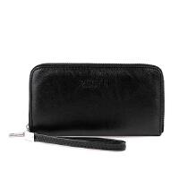 Ruofei 男士钱包长款拉链手拿包多功能商务钱夹手包可放手机RF015