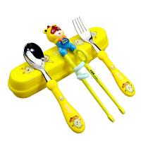 套装勺子叉家用小孩男孩一段幼儿童筷子训练筷宝宝学习练习筷餐具