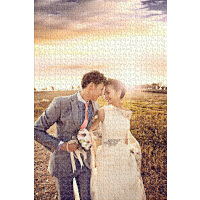 定制1000片木质拼图520片个性创意diy30寸照片情人节情侣生日礼物
