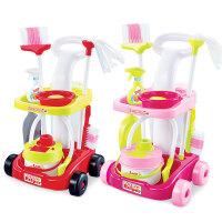 儿童过家家仿真清洁工具打扫卫生扫把拖地手推车套装女孩玩具