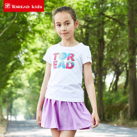 探路者Toread kids  女童休闲套装图案圆领短袖T恤/短裙套装