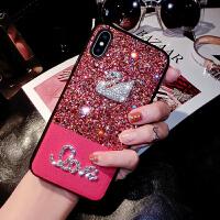 网红苹果8plus手机壳女iphone7软硅胶个性创意X全包防摔6s钻