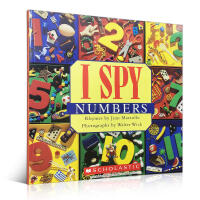 进口英文原版正版 I Spy Numbers 视觉大发现系列之学数字宝宝奇妙趣味游戏书家庭亲子读物提升宝宝观察能力英语